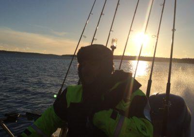 Kylig morgon på havet