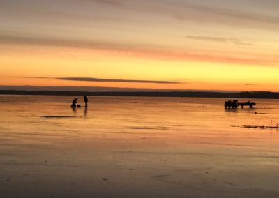 Tidig morgon på isen