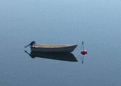 ensam roddbåt